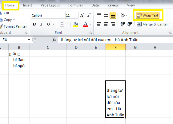 cach-xuong-dong-trong-excel