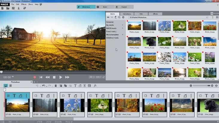 Phần mềm Magix Photostory Easy