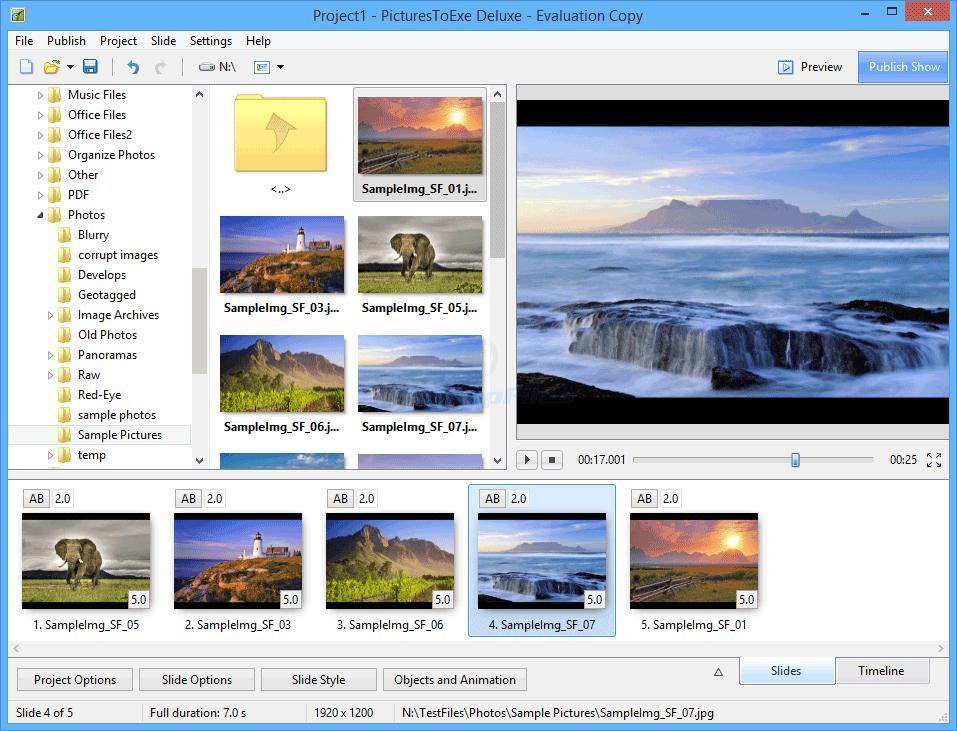 Phần mềm PicturesToExe